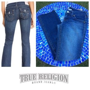 AUTHENTIC True Religion Becky frayed hem jeans 28